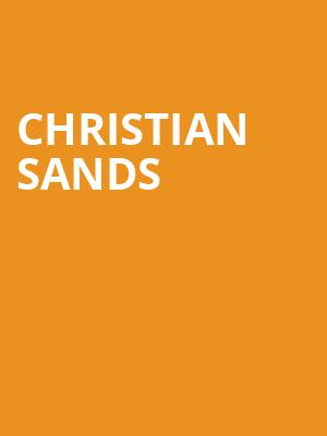 Christian Sands at Jo Long Theatre