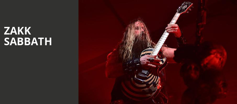 Zakk Sabbath, The Aztec Theatre, San Antonio