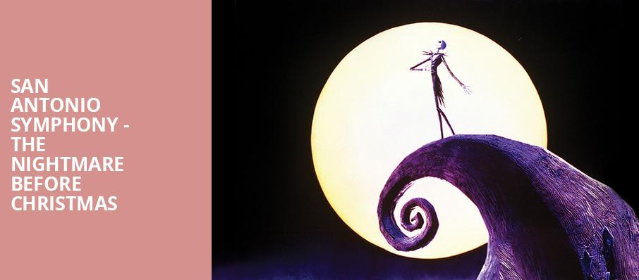 San Antonio Symphony The Nightmare before Christmas, Majestic Theatre, San Antonio