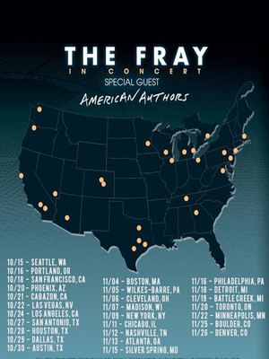The Fray with American Authors, The Aztec Theatre, San Antonio